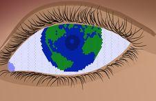 Free World Eye Stock Image - 8231361