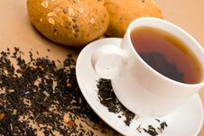 Free Tea And Bread Royalty Free Stock Photography - 8231467