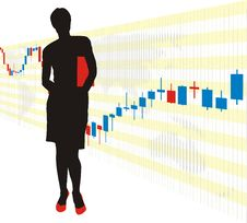Free Businesswoman And Chart Royalty Free Stock Photo - 8231475