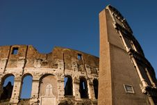 The Colosseum Amphitheater In Rome Royalty Free Stock Image