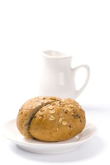 Free Bread And Milk Royalty Free Stock Photography - 8231697