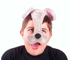 Happy Boy In Mask Royalty Free Stock Photography