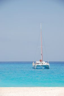 Free Catamaran At Navagio - Zakynthos Island Greece Royalty Free Stock Image - 8231906