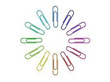 Free Colored Paper Clips Stock Photos - 8232213