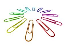 Colour Paper Clips Royalty Free Stock Image