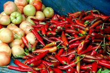 Free Pengzhou, China: Chili Peppers And Tomatoes Stock Photos - 8233133