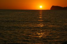 Sunrise South Pacific Ocean Royalty Free Stock Photo