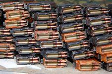 Free Cartridges From Kalashnikov Royalty Free Stock Photos - 8233398