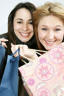 Free Two Woman With Shopping Bag Royalty Free Stock Photography - 8233547