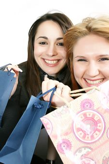 Free Two Woman With Shopping Bag Royalty Free Stock Photography - 8233557