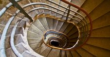 Old Spiral Staircase With Marble Steps Stock Photography