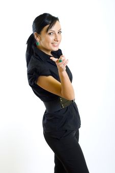 Free Businesswoman Pointing To You Stock Image - 8233801