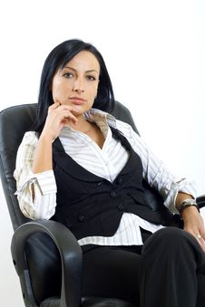Free Attractive Businesswoman In Office Chair Stock Photo - 8233810