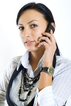 Free Attractive Businesswoman With Mobile Phone Stock Image - 8233971