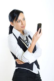 Free Attractive Businesswoman With Mobile Phone Royalty Free Stock Photos - 8233988