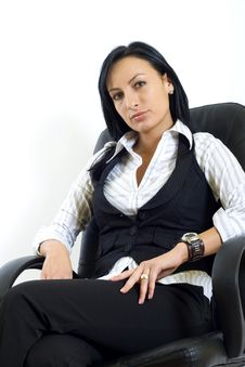 Free Attractive Businesswoman In Office Chair Royalty Free Stock Image - 8234046