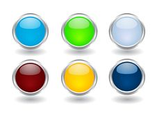 Free Set Of Buttons Royalty Free Stock Photo - 8234425
