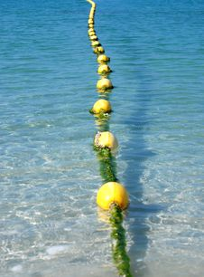 Free Yellow Floats Line Stock Image - 8234461