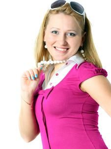 Free Smiling Young Woman Royalty Free Stock Image - 8234546