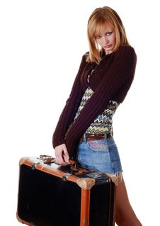 Free Woman With Travelling Bag Royalty Free Stock Photography - 8234987