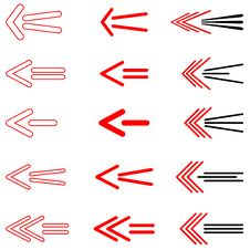 Free Arrows Set. Vector. Royalty Free Stock Photos - 8235388