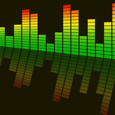 Abstract Background Digital Equalizer Stock Images