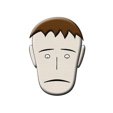 Free Sad Face Man Royalty Free Stock Photography - 8235767