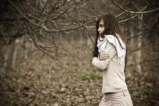 Free Young Beauty In Dark Forest Royalty Free Stock Images - 8235969