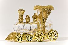 Decorative Miniature Of A Train Royalty Free Stock Image