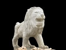 Statue Showing A Lion Royalty Free Stock Photography