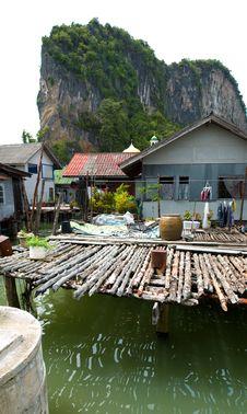 Free Muslim Floating Village Yard Stock Image - 8237081
