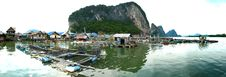 Free Muslim Floating Village Panorama Royalty Free Stock Photo - 8237115