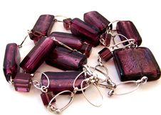Violet Necklace Stock Photo