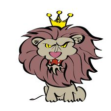 Free King Lion Cartoon Royalty Free Stock Photos - 8237458
