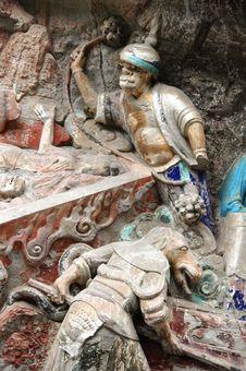 Dazu Rock Carvings, China Stock Photo