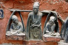 Dazu Rock Carvings, China Royalty Free Stock Image
