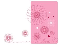 Geometric Flowers Royalty Free Stock Images