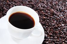 Free Black Coffee In A White Cup Royalty Free Stock Photos - 8238508