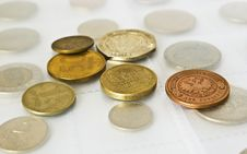 Free Old Coins  Collection Royalty Free Stock Photos - 8238628