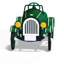 Free Veteran Oldtimer With Clipping Path Over White Royalty Free Stock Images - 8238659