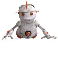 Free Cute Roboter With Lot Of Emotion Stock Images - 8238704