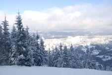 Free Carpathian Mountains In Snow Stock Image - 8239281