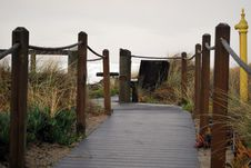 Pathway To The Beach Royalty Free Stock Photos