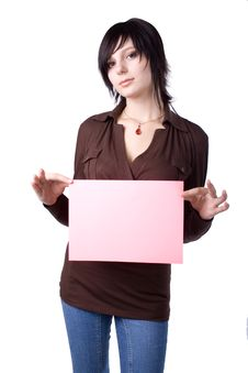 Free The Young Businesswoman At Office Behind Work Royalty Free Stock Images - 8239649