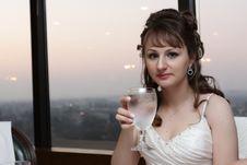 Free Bride In Restaurant Stock Photo - 8239700