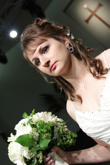 Free Bride In Church Royalty Free Stock Image - 8239706