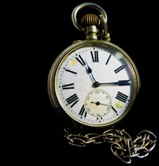 Free Pocket Watch And Chain Stock Photography - 8239802