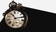 Old Clock 11:10 Stock Images