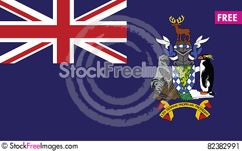 Free Flag Of South Georgia And The South Sandwich Islands Vector Icon Stock Image - 82382991