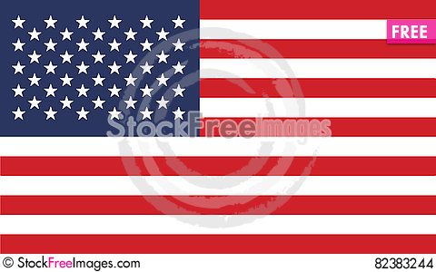 Free Flag Of United States Vector Icon Illustration Stock Images - 82383244